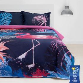 Постельное бельё «Этель» Фламинго, 1,5-сп., 143 × 215 см,150 × 214 см, 50 × 70 (+3) см, 2 шт., ранфорс 111 г/м²