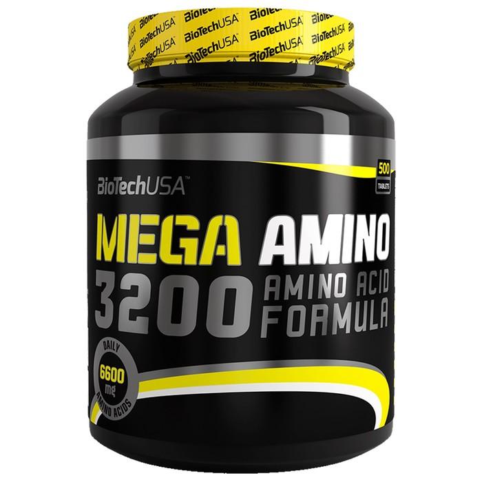 Аминокислоты BioTech Mega Amino 3200, 500 таб