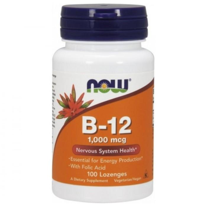 Витамин B-12 NOW 1000 мкг, 100 пастилок