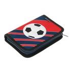 Пенал 1 секция откидные 2 планки 140 х 200 мм, ткань Belmil Football Club Red