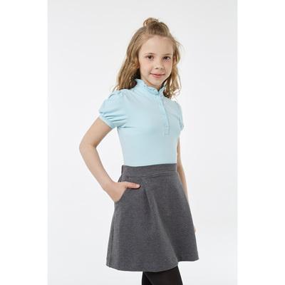Блузка для девочки, рост 152 см, цвет голубой