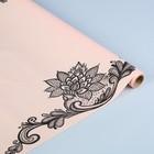 """Пленка для цветов матовая """"Кружево на светло-розовом"""", 55 мкм, 0,55 х 10 м"""