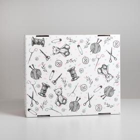 Складная коробка «Хэнд‒мэйд», 31,2 х 25,6 х 16,1 см Ош