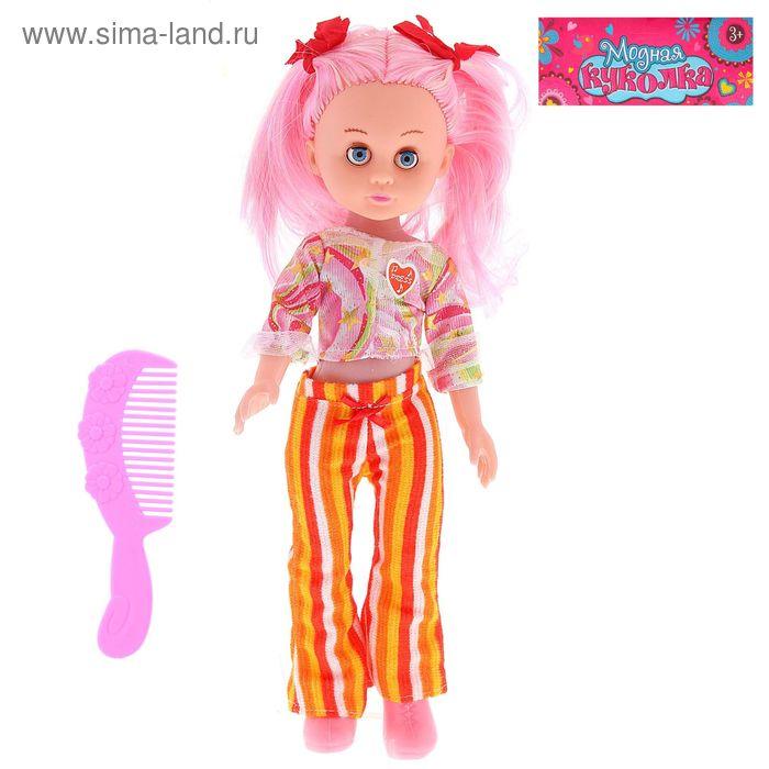 """Кукла """"Полина"""" с расческой, звуковые эффекты, работает от батареек, 33 см, МИКС"""