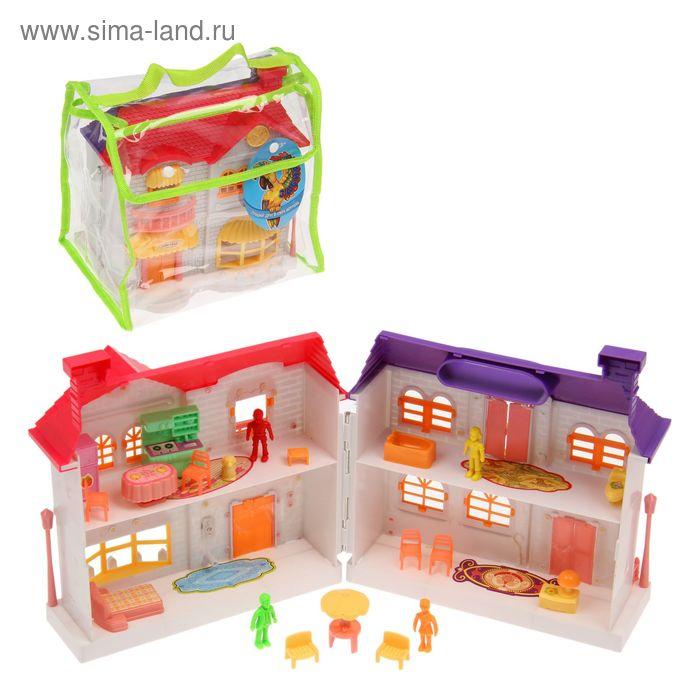 Дом для кукол, с аксессуарами, цвета МИКС