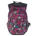 Рюкзак молодежный эргономичная спинка Yes 45*26*20 T-27 для девочки Ginger, серый/розовый 554926
