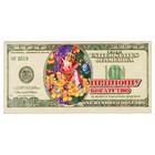 """Магнит деревянный доллар """"Приношу богатства"""" с голографией, 11,8х5,7см, Символ года 2019"""