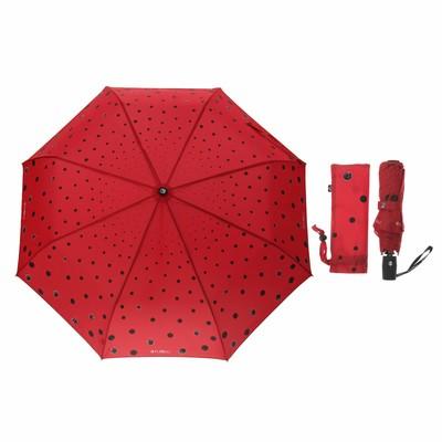 """Зонт автоматический """"Кошки в городе"""", R=51см, цвет красный"""