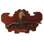 Сувенирное изделие Серия Ретро, Пистолет французский на планшете, накладка-Конь, 44*27*6см