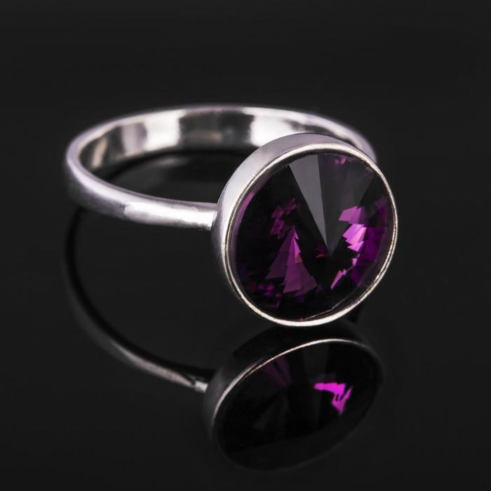"""Кольцо бижар """"Увлечение"""", размер 19,5, цвет фиолетовый в серебре"""