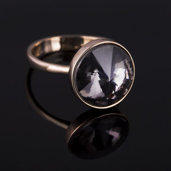 """Кольцо бижар """"Ночь"""", размер 17, цвет серый в золоте"""