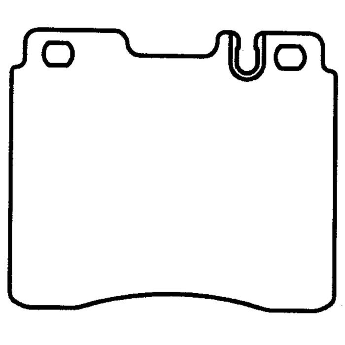 Колодки тормозные дисковые, передние, Friction Master CMX689