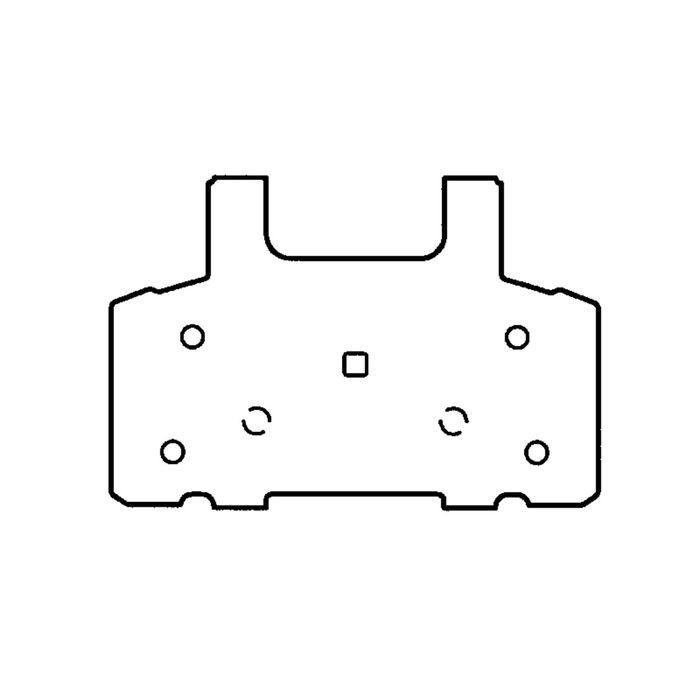 Колодки тормозные дисковые, передние, Friction Master ELT370
