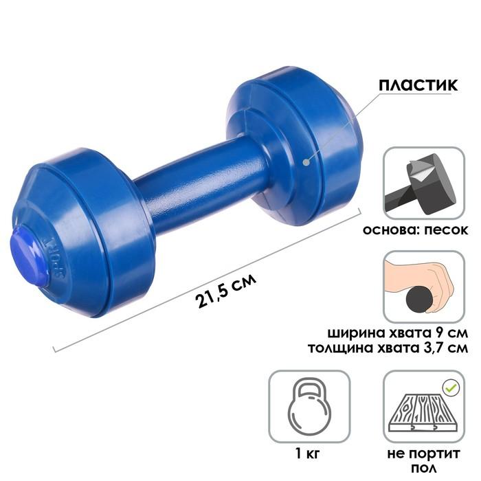 Гантели 1,0 кг. (1 шт), МИКС