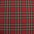Ткань костюмная, шотландка, ширина 150 см, бордовый