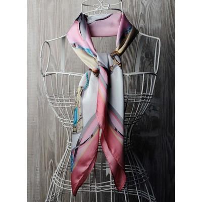 Платок женский, размер  70х70 см, цвет розовый  K0570PL118