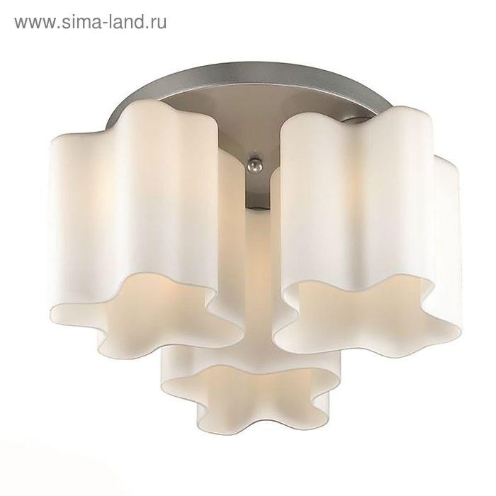 Люстра ONDE 3x60Вт Е27 серебро 38x38x25см