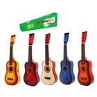 """Музыкальная игрушка """"Гитара"""" 58 см, 6 струн, медиатор, цвета МИКС"""