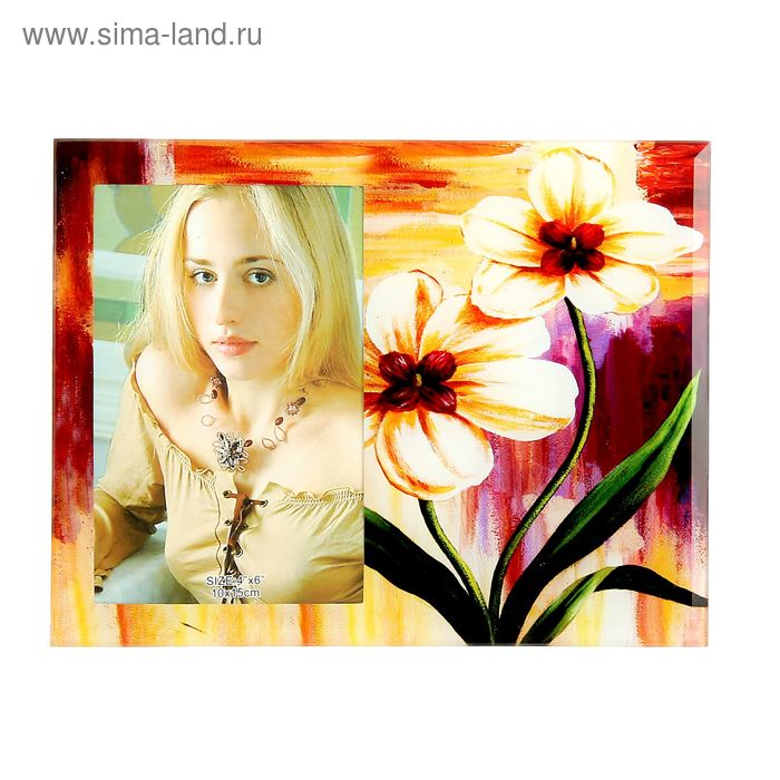 "Фоторамка ""Белая орхидея"" 10х15 см"