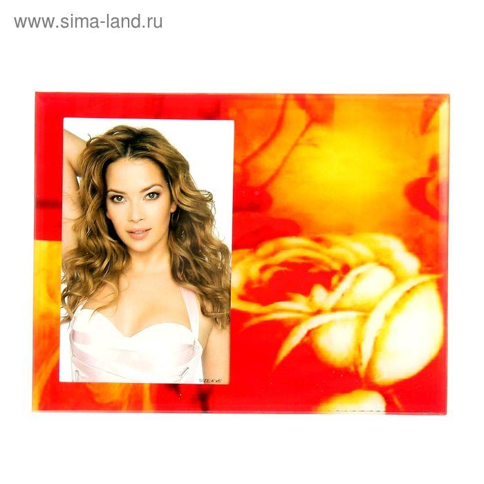 "Фоторамка ""Кремовая роза"" 10х15 см"