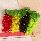 Искусственный виноград, 36 ягод, глянцевый, микс