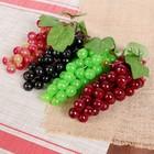 Искусственный виноград, 46 ягод, глянцевый, микс