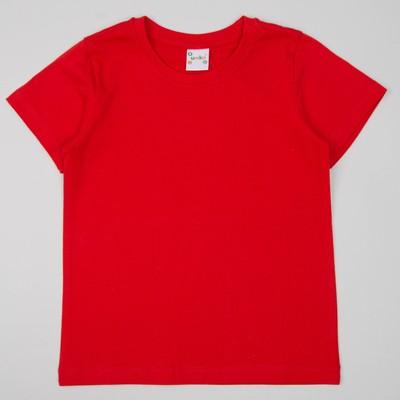 Футболка для девочки, рост 122/128 см, цвет Красный М-097