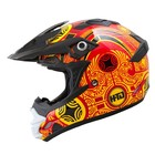 Шлем кросс TX-24, красно-желтый, размер L