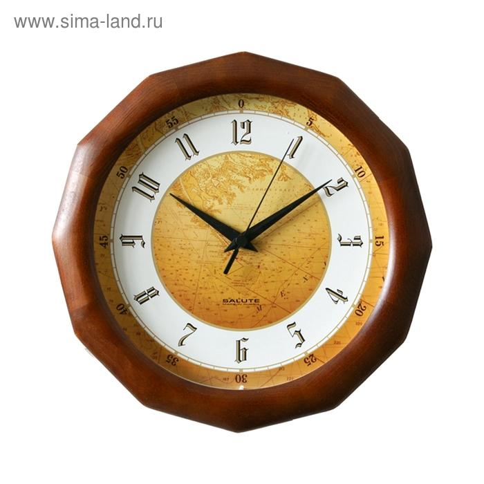 """Часы настенные круглые """"Карта"""", деревянные"""