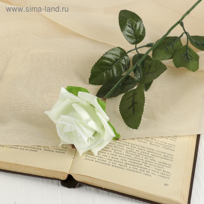 """Цветок искусственный """"Белая роза"""""""