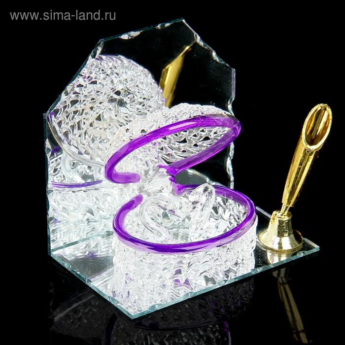 """Сувенир """"Лебединый секрет"""" на зеркале с подставкой для ручек"""