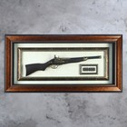 Ружьё в раме, пули, рама двойная с узором, 97х47 см