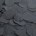 """Наполнитель для шара """"Конфетти круги"""" 2,5 см, тишью, 50 г, цвет черный"""