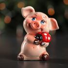 """Копилка """"Свинка с божьей коровкой"""", 13 см"""