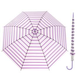 Зонт детский прозрачный матовый 'Полоска' d=52 см 25979  МИКС Ош