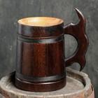"""Кружка пивная деревянная """"Мюнкер"""", темная, 0,8 л"""