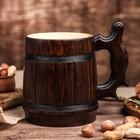 """Кружка для пива, деревянная """"Ретро"""", 0,5 л"""