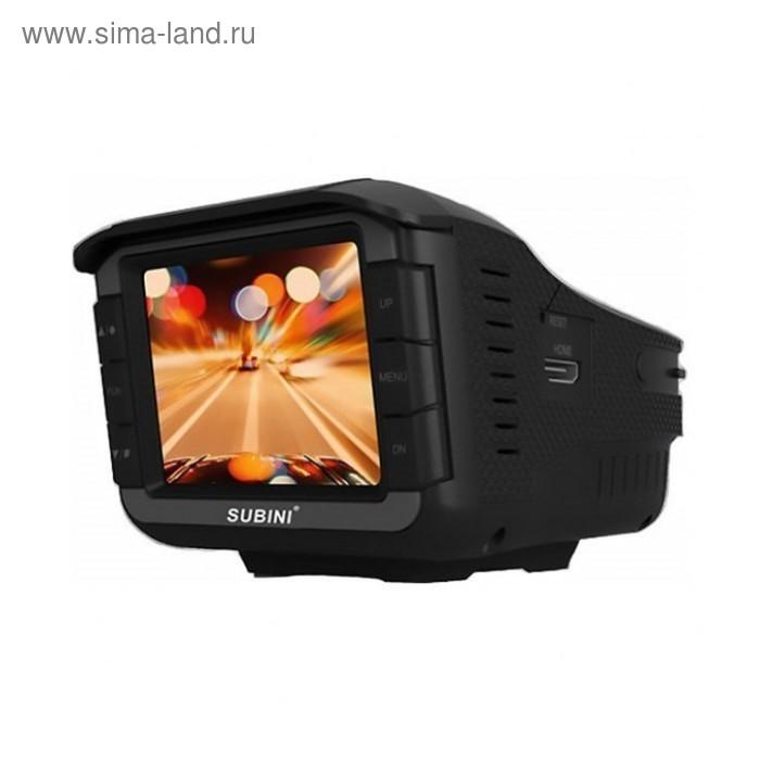 "Видеорегистратор + радар-детектор Subini XT-6, 2"", обзор 120°, 1280x720"