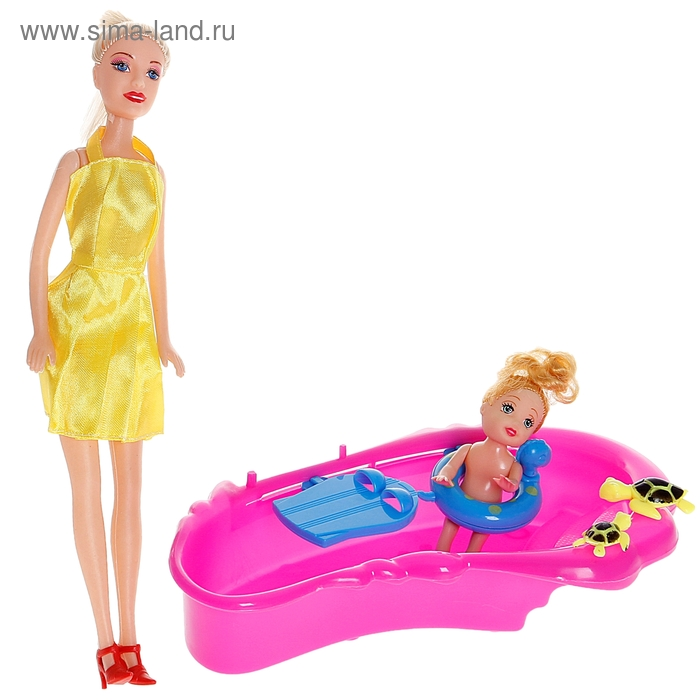 "Кукла ""Мама с дочкой"", МИКС"