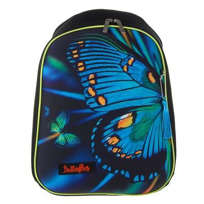 Рюкзак каркасный Hatber 37*29*17 Ergonomic light, дев, Butterfly NRk_21011