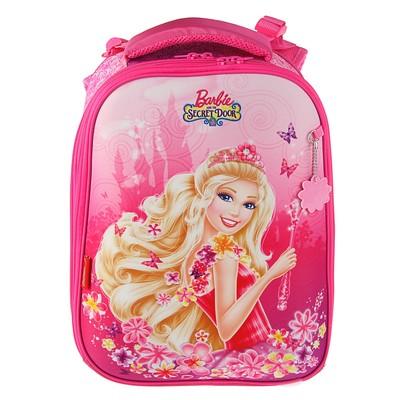 """Рюкзак каркасный Hatber 37*29*17 Ergonomic, дев, """"Барби"""" розовый NR_21089"""