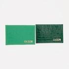Футляр для карточек 9,5*0,1*6см,  крокодил зеленый микс