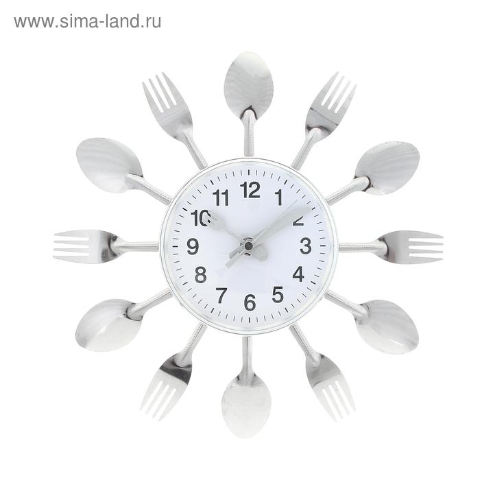 """Часы настенные кухонные """"Ложки - вилки"""""""