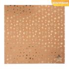 Бумага для скрапбукинга крафтовая с фольгированием «Сияние звёзд», 30,5 х 30,5 см, 300 г/м
