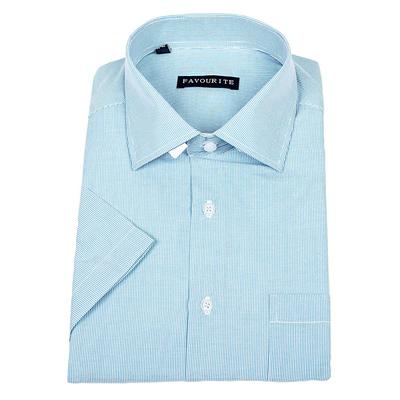 Сорочка  мужская с коротким рукавом 115014s_FAV цвет бирюзовый, р-р 41-42