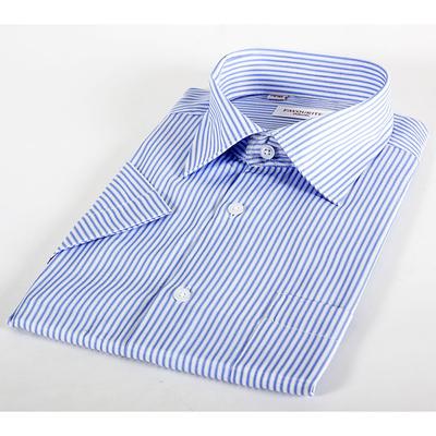 Сорочка  мужская с коротким рукавом 203169s_FAV цвет голубой, р-р 41 (170-176)