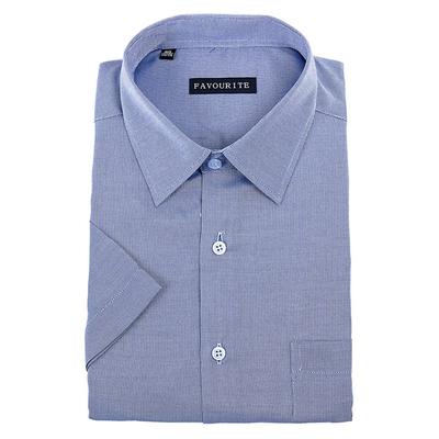 Сорочка  мужская с коротким рукавом 703043s_FAV цвет синий, р-р 45 (182-188)