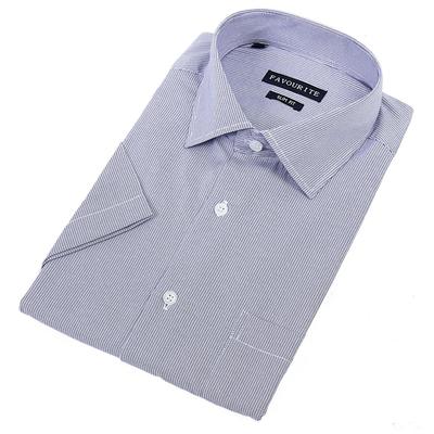 Сорочка приталенная мужская с коротким рукавом R104136s_FAV цвет синий, р-р 40-41
