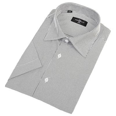 Сорочка приталенная мужская с коротким рукавом R108045s_FOR цвет чёрный, р-р 40 (170-176)