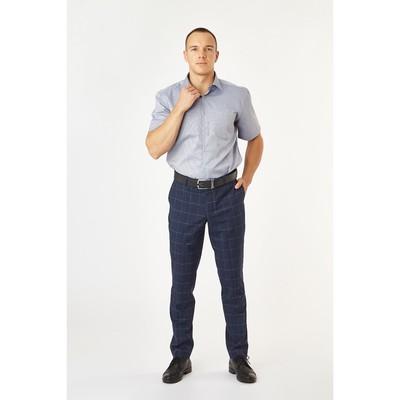 Сорочка приталенная мужская с коротким рукавом R704018s_FAV цвет серый, р-р 42 (170-176)